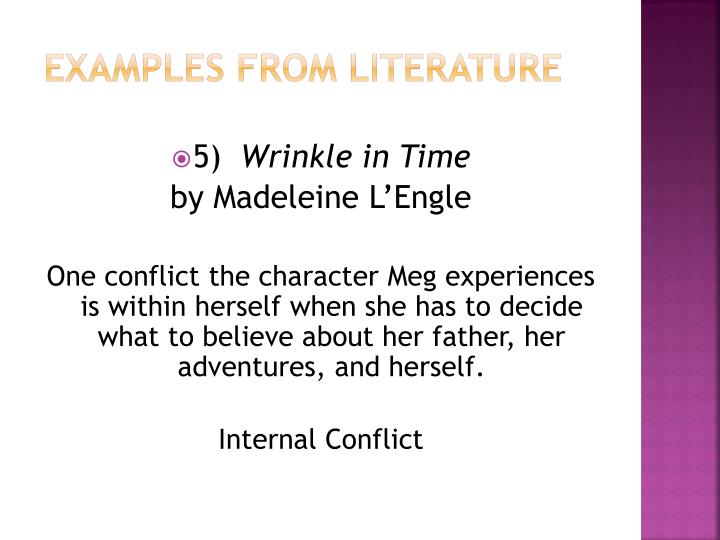 what is internal conflict example