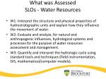 what was assessed slos water resources