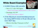 white board examples