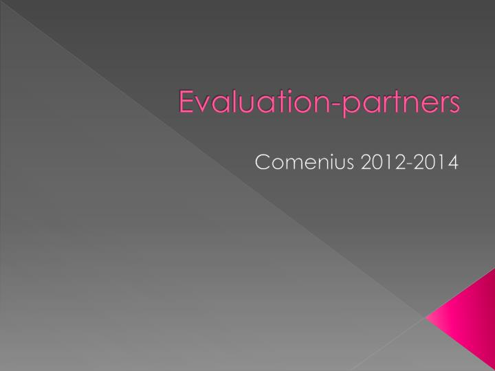 evaluation partners n.