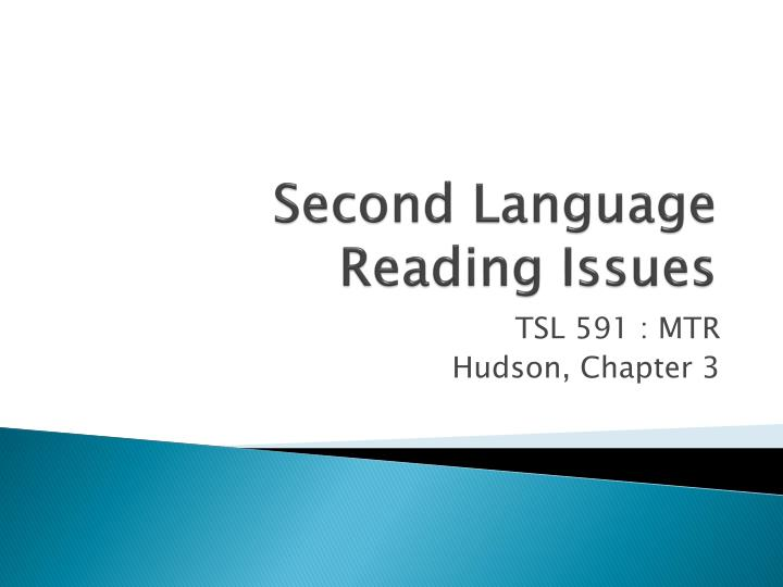 second language reading issues n.