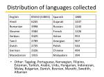 distribution of languages collected