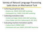 variety of natural language processing tasks done on mechanical turk