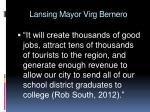 lansing mayor virg bernero
