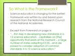 so what is the framework1