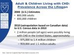 adult children living with chd prevalence across the lifespan