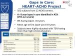 gaps in care heart achd project