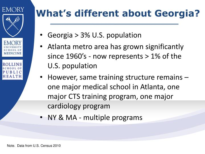 What's different about Georgia?
