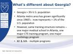 what s different about georgia
