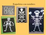 esqueletos con nombres