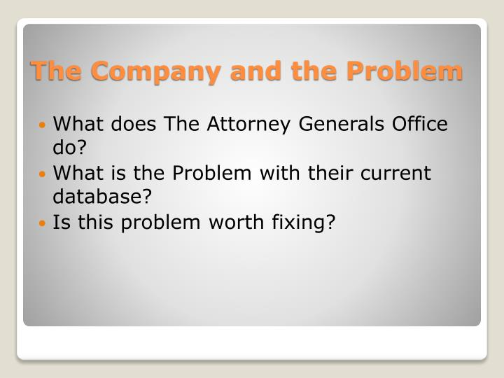 The company and the problem