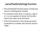 parsefloat mystring function