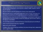 proposed hiring process