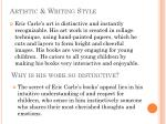 artistic writing style