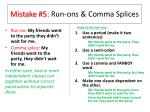 mistake 5 run ons comma splices