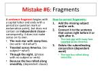 mistake 6 fragments