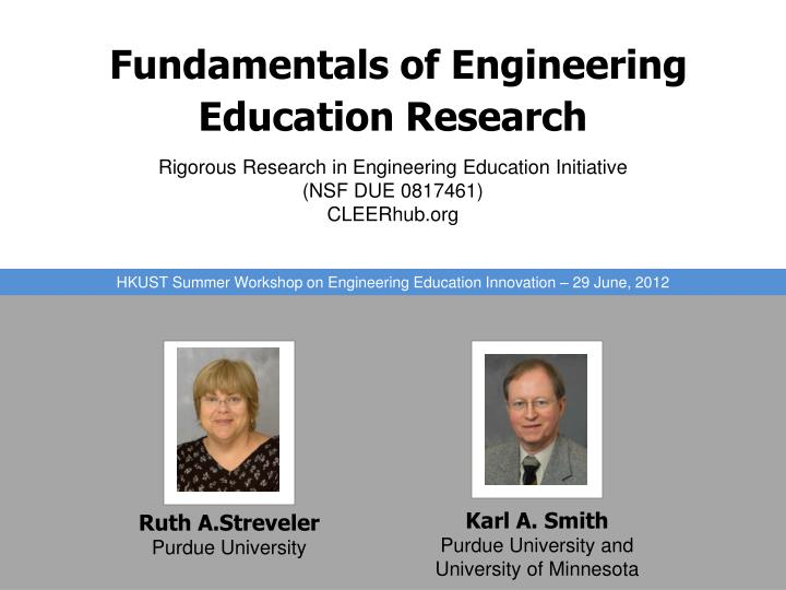 fundamentals of engineering education research n.