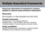 multiple theoretical frameworks2
