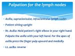 palpation for the lymph nodes