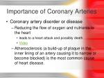 importance of coronary arteries