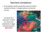 nutrient limitations