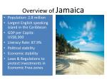 overview of jamaica