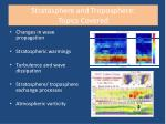 stratosphere and troposphere topics covered