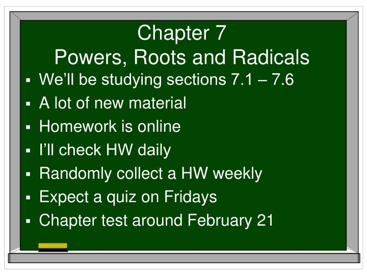chapter 7 powers roots and radicals n.