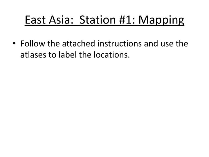 east asia station 1 mapping n.