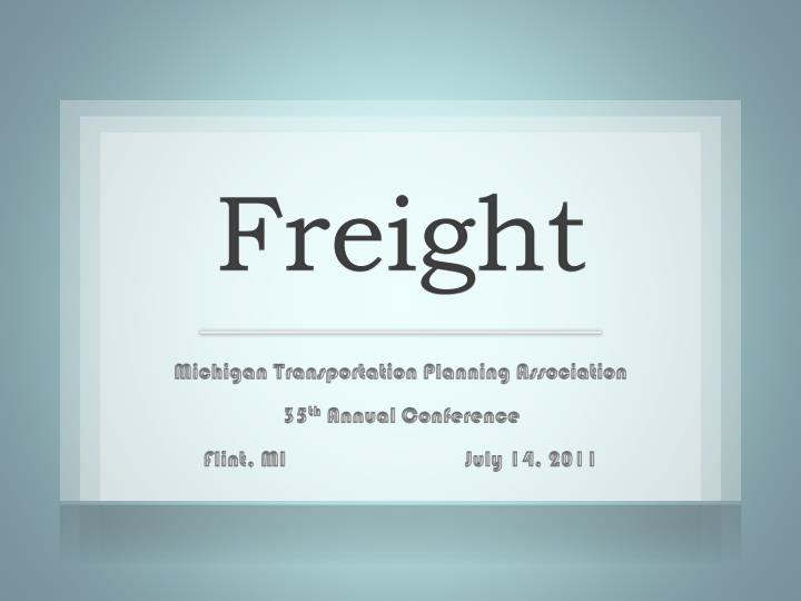 freight n.
