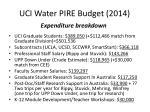 uci water pire budget 20141