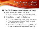 the grace of god in the old testamen t