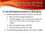 the grace of god in the old testamen t1