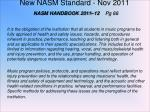 new nasm standard nov 2011 nasm handbook 2011 12 pg 66