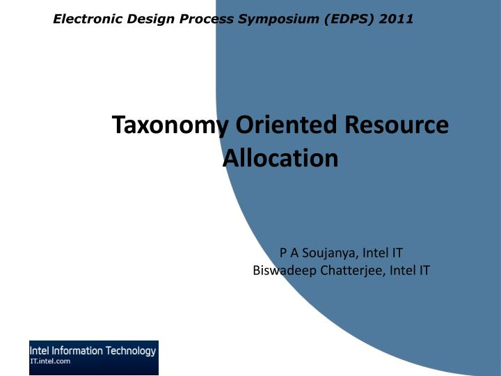 taxonomy oriented resource allocation n.