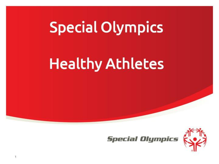 special olympics healthy athletes n.