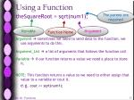 using a function