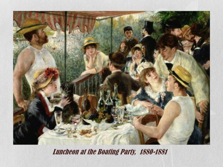 Luncheon at the Boating Party,  1880-1881