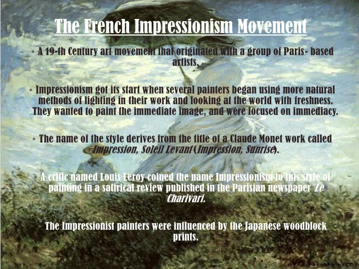 The french impressionism movement