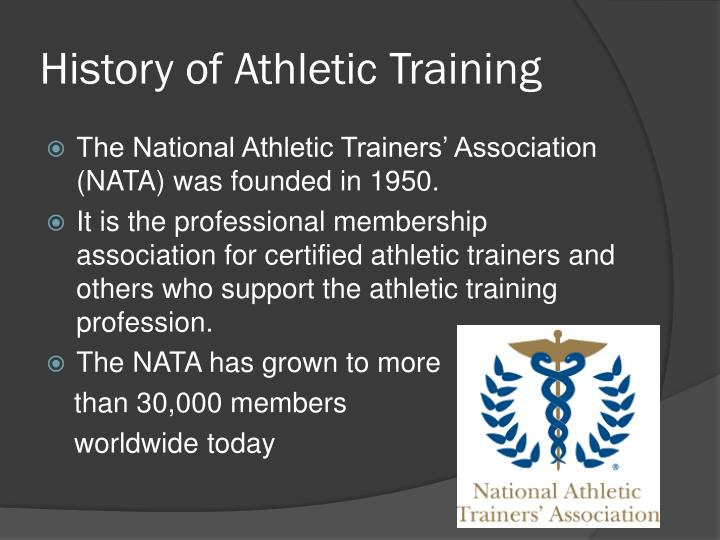 an analysis of the characteristics of athletic training as a profession According to a recent study from the journal of athletic training the issue of work-life balance is driving people out of the profession, slowly but surely.