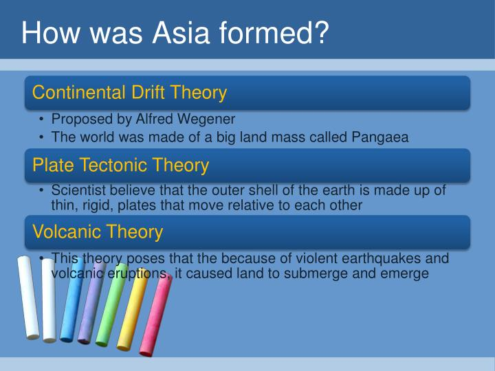 How was Asia formed?