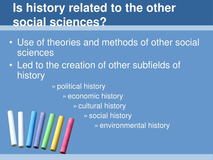 Is history related to the other social sciences?