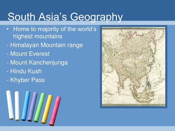 South Asia's Geography