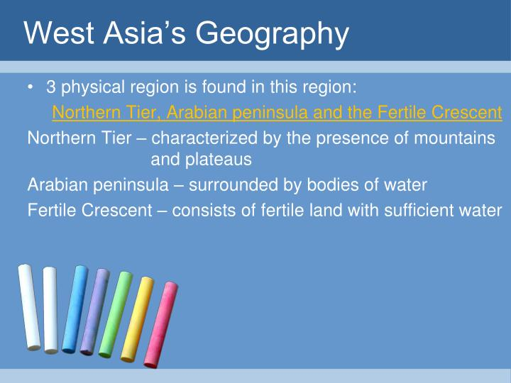 West Asia's Geography