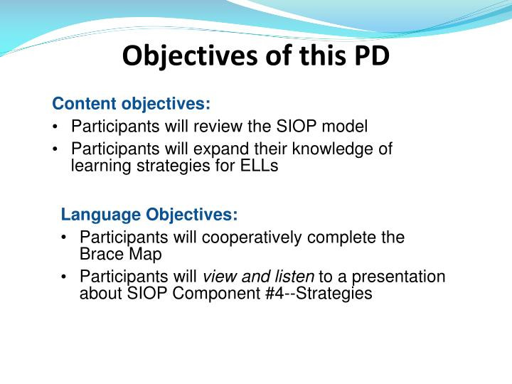 Ppt Siop Sheltered Instruction Observation Protocol Component Four