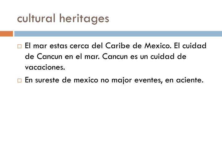 cultural heritages