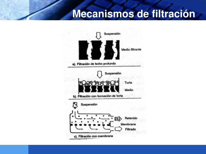 Mecanismos de filtración