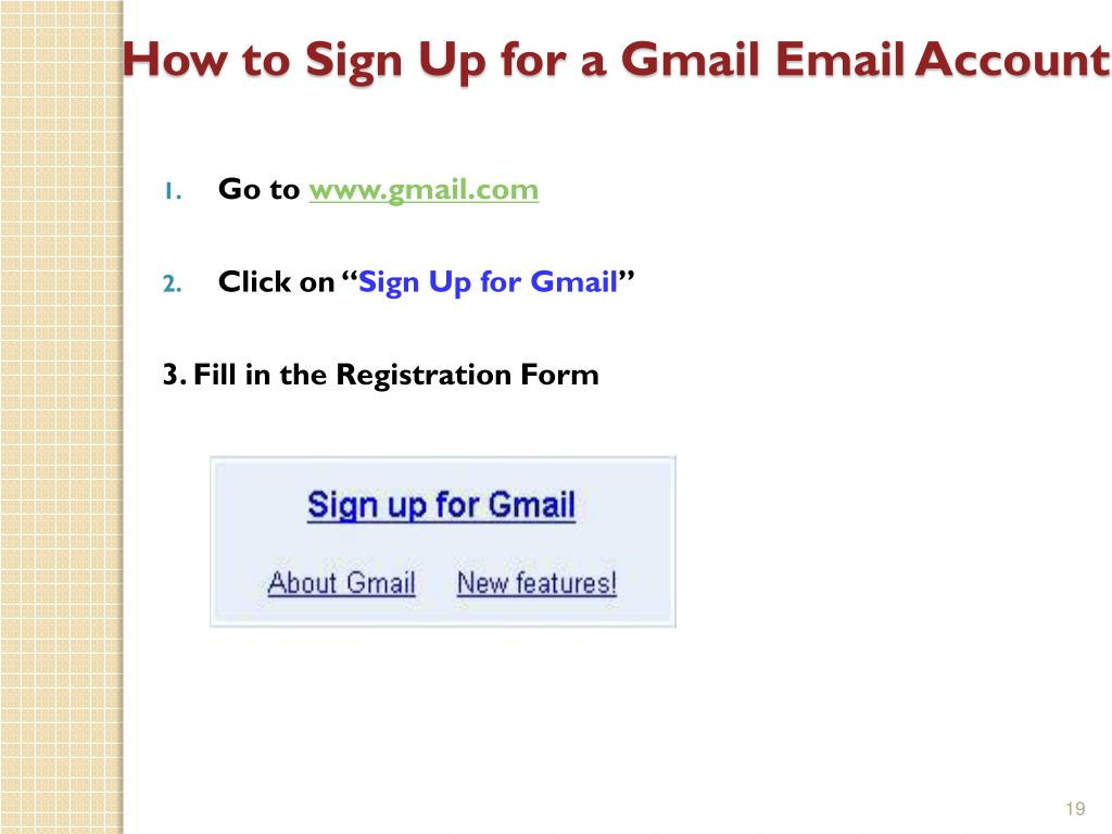 Gmail l sign up
