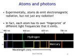 atoms and photons