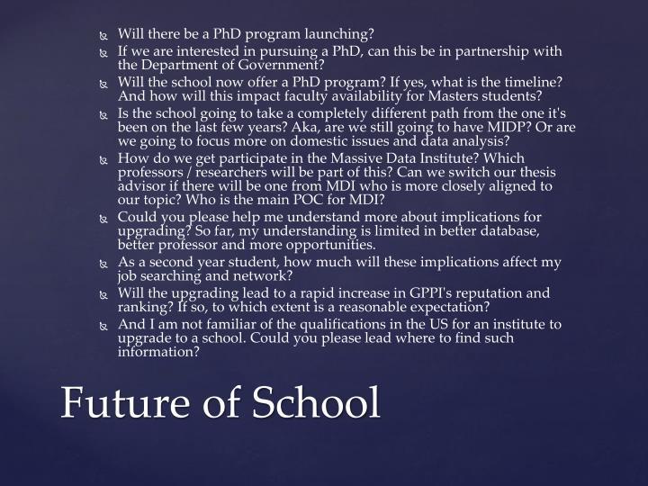Future of school
